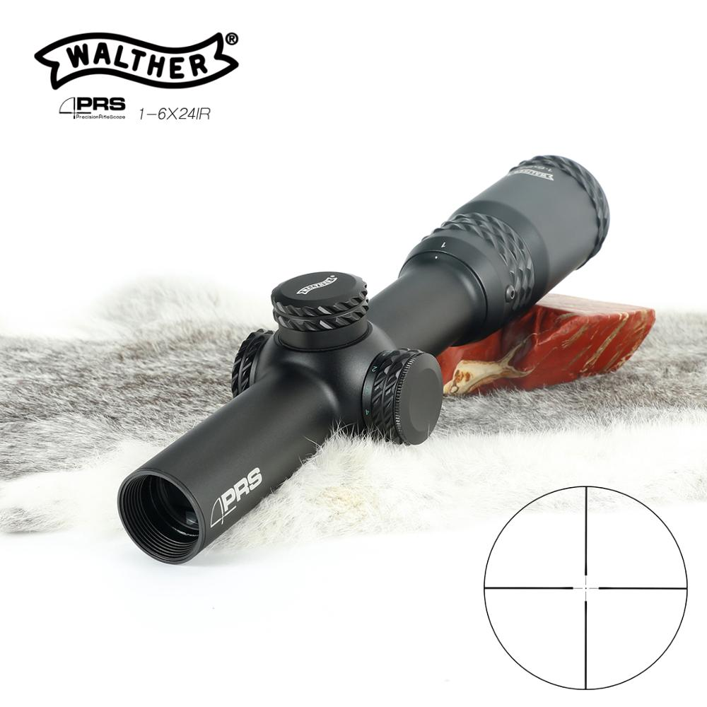 Hunting Walther Optical Sight PRS 1-6X24 Riflescope Optics Rifle Sight Hunting Optical Red Dot Green Dot Hunter Gun