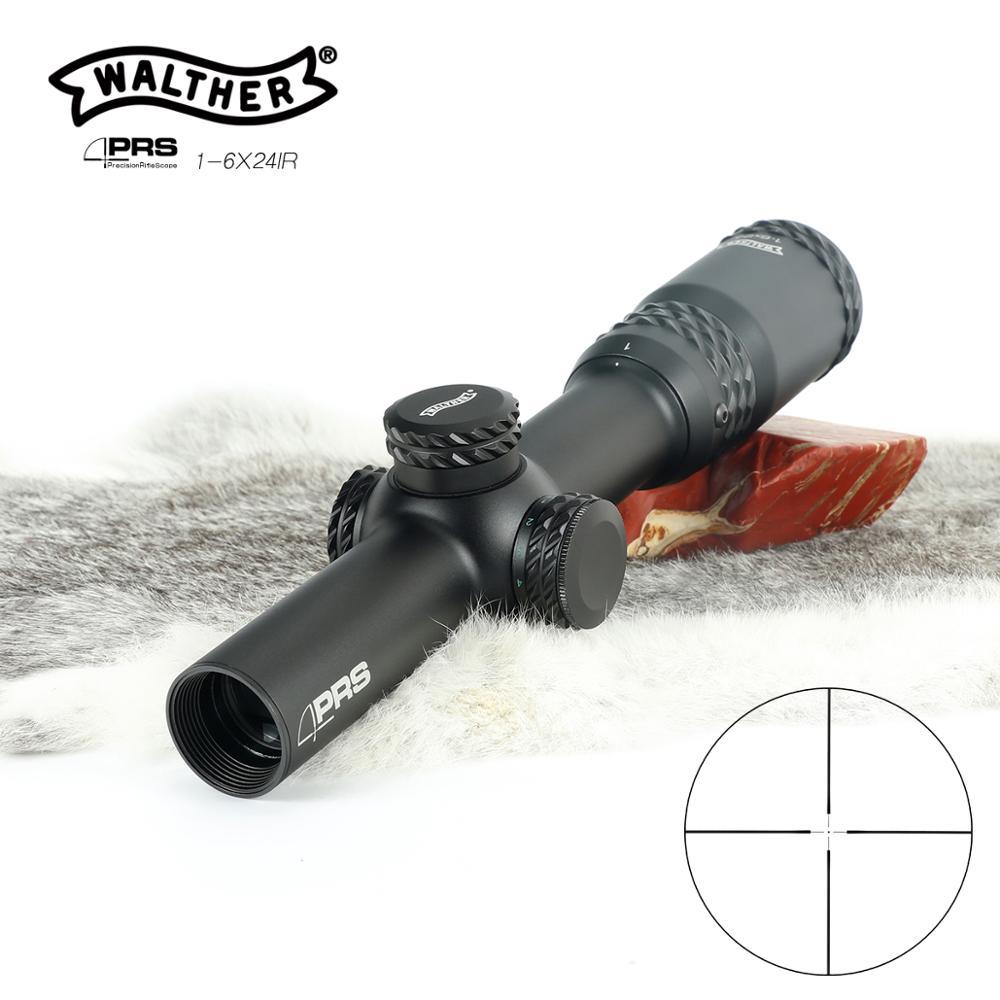Hunting Walther Optical Sight PRS 1 6X24 Riflescope Optics Rifle Sight Hunting optical Red dot Green dot Hunter Gun|Riflescopes| |  - title=