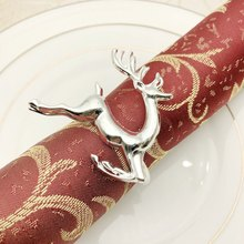 6PCS Napkin Rings in Elk Deer Shape Decorative Table Napkin Rings for Christmas Wedding Parties Everyday Use(China)