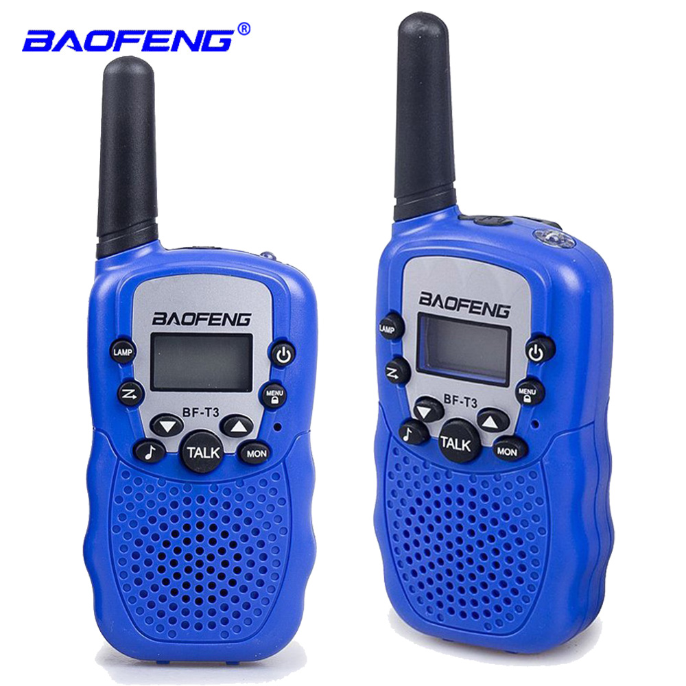 2pcs Baofeng BF-T3 PMR446 Walkie Talkie Best Gift For Children Radio Handheld Mini Wireless Two Way Radio Kids Toy Walkie Talkie