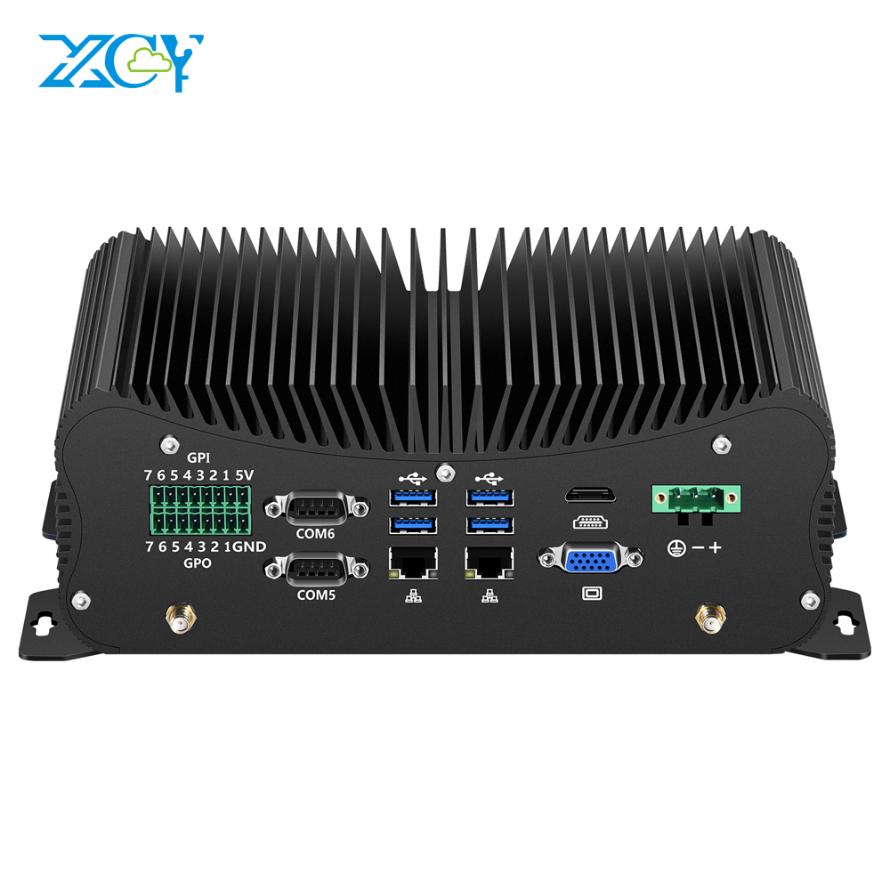 Mini PC Intel Core I7 10510U 6*DB9 RS232/422/485 Industrial 2*Gigabit Ethernet WiFi Bluetooth 6USB LPT PS/2 HDMI VGA 4G SIM GPIO