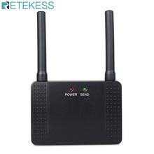 Беспроводной ретранслятор Retekess 433 МГц 500 МВт, усилитель сигнала, расширитель для беспроводных звонков, пейджер для ресторана, клиентская служба, отель