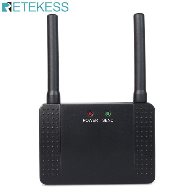 Retekess 433MHz 500mW مكرر لاسلكي مكبر صوت أحادي موسع للاتصال اللاسلكي مطعم بيجر خدمة العملاء الفندق