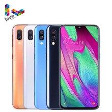 Samsung galaxy a40 a405f/ds 2sim desbloqueado telefone celular 5.9