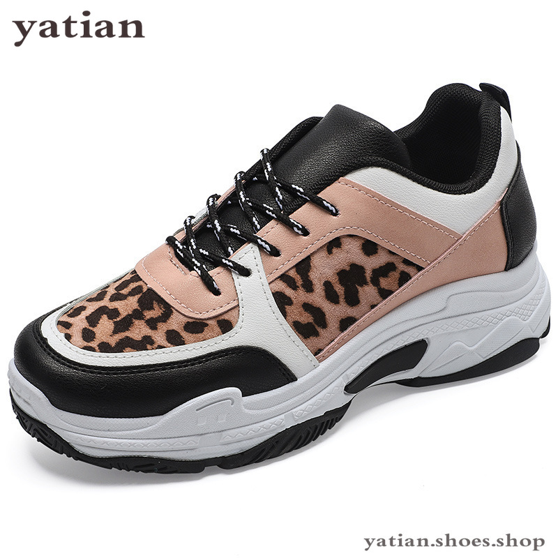 Leopard Sneakers 2019 Fashion Spring Autumn Women Sneakers Lady Black Road Famle Trainers Causal Shoes Woman Sports Shoes A08