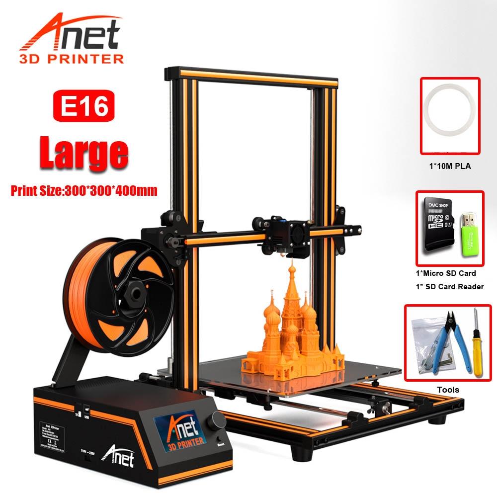 Anet A8 Plus E16 E12 E10 Large Size Desktop FDM DIY 3D Printer Kit Prusa I3 Impresora 3D Imprimante 3D Easy Assembly