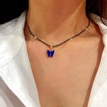 Женское ожерелье с подвеской в виде бабочки flatfoosie 2 мм
