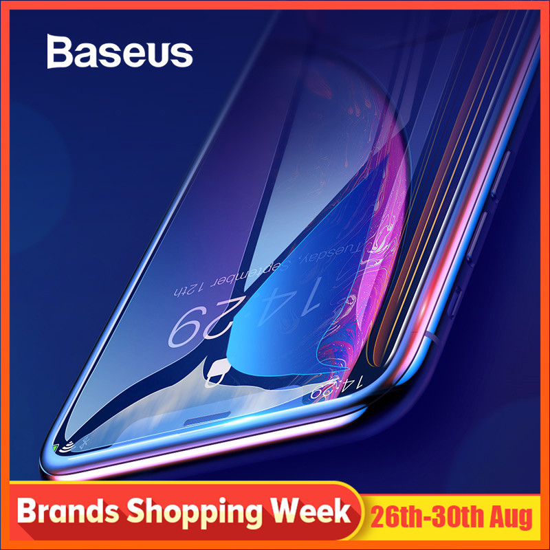 Baseus 0.3mm Full Coverage Tempered Glass For iPhone Xs Xs Max XR 2018 Screen Protector Thin Protective Glass For iPhone X Xs XR