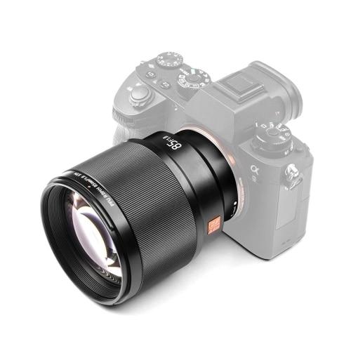 Chaude 3C-Viltrox 85mm F1.8 STM professionnel plein cadre e-mount caméra objectif principal pour Sony A7 série A6500 A6300 Sony e-mount Camer