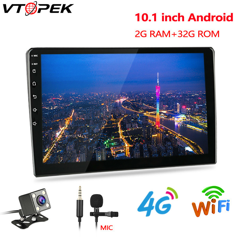 Vtopek <font><b>Android</b></font> 8.1 2G+32G car multimedia video player 10inch <font><b>universal</b></font> car Auto <font><b>radio</b></font> Backup Camera GPS navigation WIFI player image