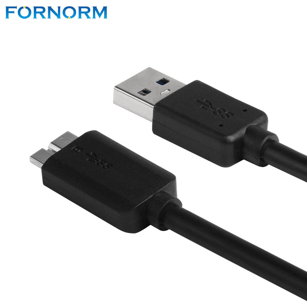 FORNORM USB 3.0 Male A to Micro B Data Cable Cord Adapter Converter With External Power Cable For Mobile Hard Drive Disk 50cm|Data Cables|   - AliExpress