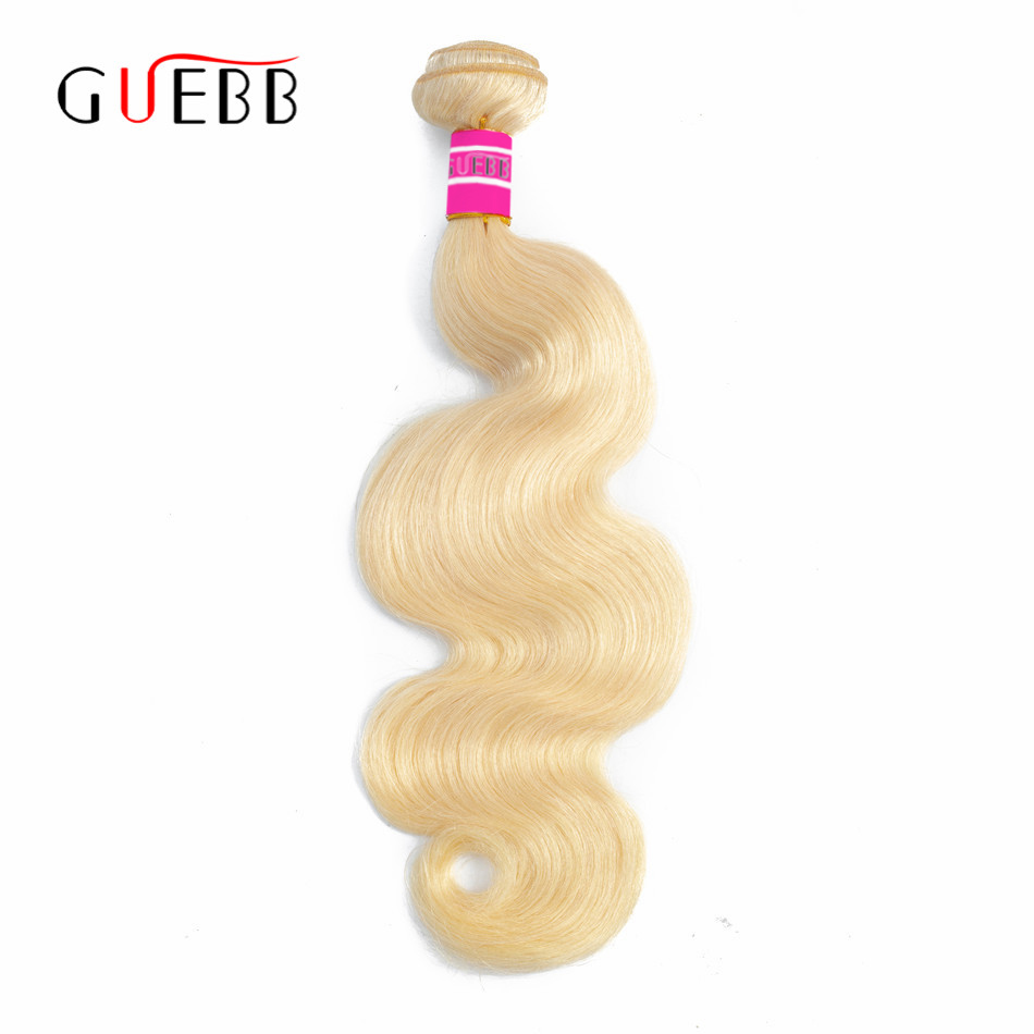 GUEBB 613 Blonde Hair Indian Body Wave Bundles 28 30 Inches Remy Hair 1 3 4 PCS Weft 100% Human Hair Extension 613 Bundles