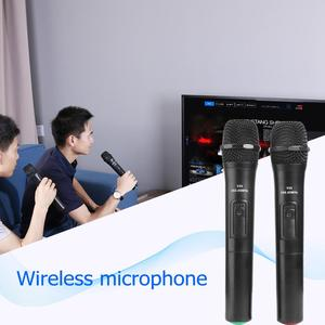 Image 5 - 2pcs Smart Wireless Handheld Microphones Mic With USB Receiver Sound Audio Amplifier For Karaoke Singing Android Smart TV Box