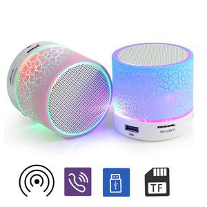 a9 Portable Crack Rechargeable LED Light Wireless Bluetooth Speaker Music Player Fashion Portable Bluetooth Speakers