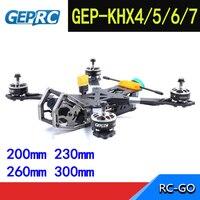 GEPRC Elegant Hybrid X FPV Frame kit Carbon fiber GEP KHX4/KHX5/KHX6/KHX7 w/ PDB 5V&12V For RC Drone Model DIY Racing Quadcopter
