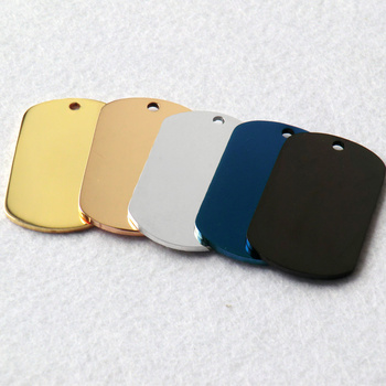 Wholesale 100 Pcs Military Dog ID Tag Stainless Steel Dog Tags Custom Personalized Dog Tag For Man Engraved Pet Dog Name Plate