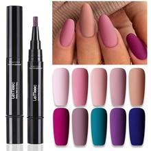 LEMOOC Nail Polish Pencil Soak Off Varnish Lacquers Pen Glossy Matte Effect Gel Polishes Glitter Sequins Gel Nails Base Top Coat