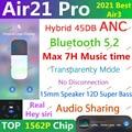 Air21 Pro ANC TWS беспроводные Bluetooth-наушники 5,2 гибридные наушники 45DB Super Bass Quality 1562F PK H1 1562H Air 9 Pro Air10 plus