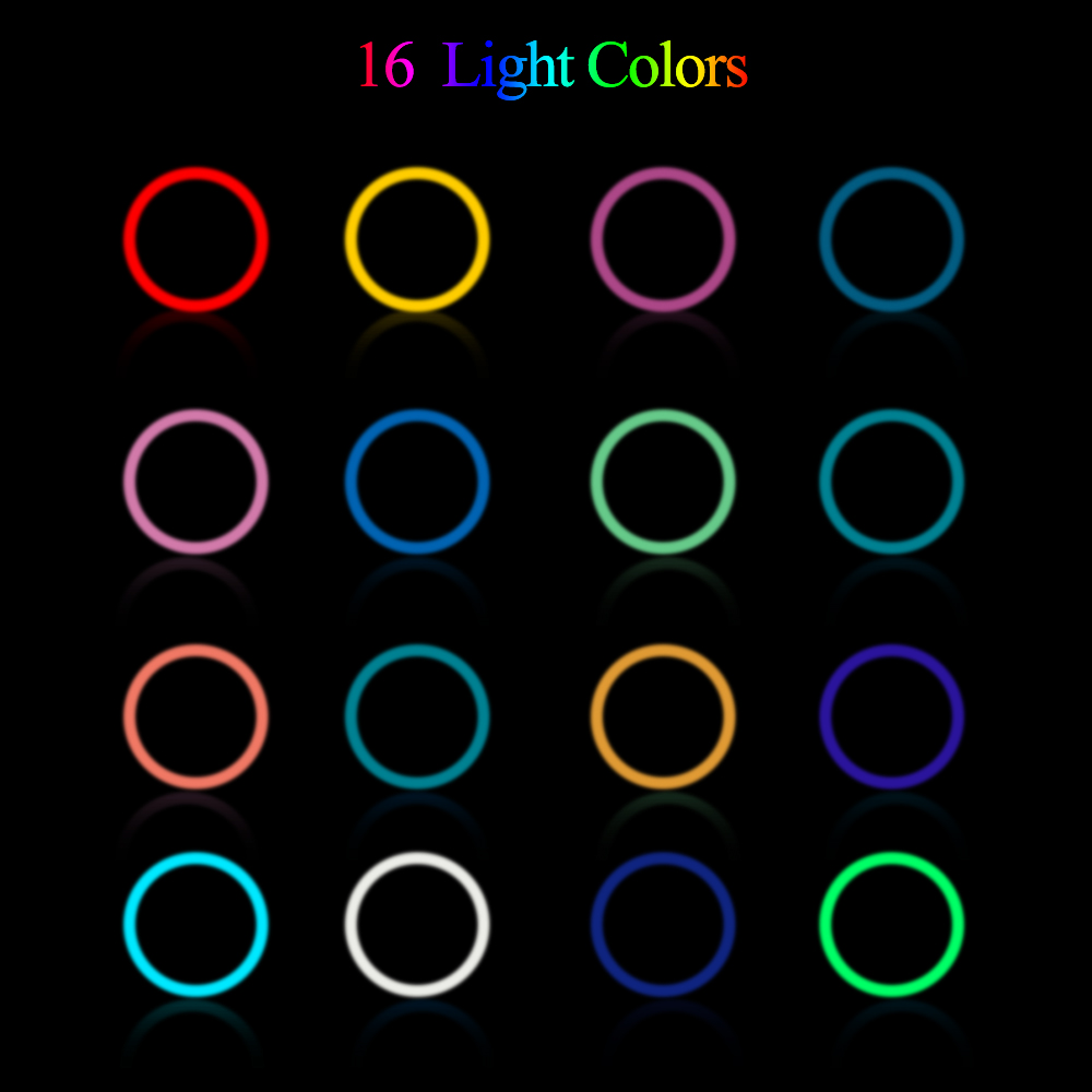Hf05ba13a40c649acbce3f92ae04766cbk 10 Inch Rgb Video Light 16Colors Rgb Ring Lamp For Phone with Remote Camera Studio Large Light Led USB Ring 26cm for Youtuber