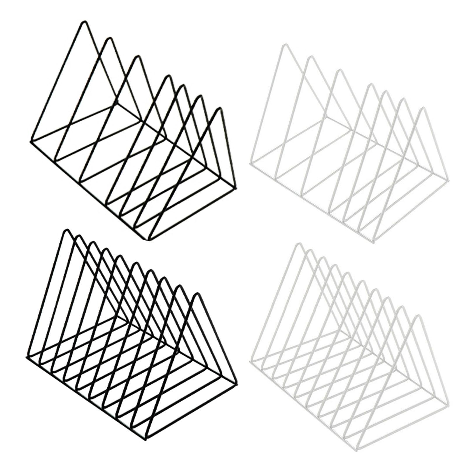 Archivador triangular de hierro forjado para gestión de libros, estantería innovadora, organizador de revistas de escritorio moderno para el hogar y la Oficina