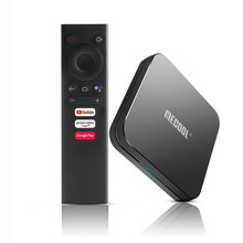 MECOOL KM3 Android 9.0 Amlogic S905X2 TV boîte commande vocale 4K Streaming 4GB DDR4 64GB lecteur multimédia HD 2.4G/5G WIFI Smart TV BOX