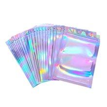 100 шт прозрачные пакеты с застежкой молнией