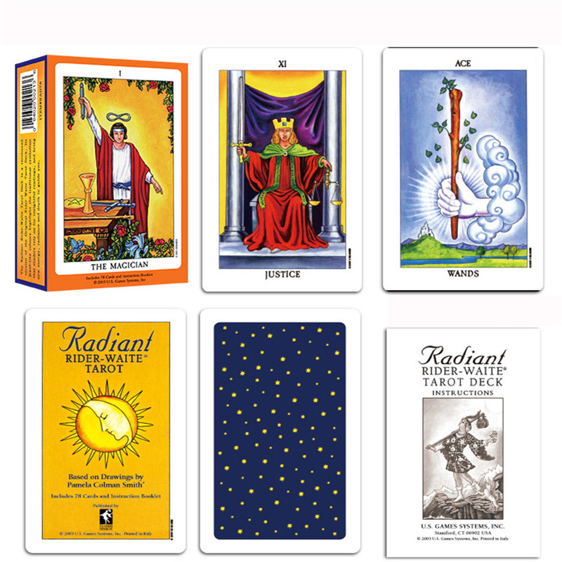 Hot Full English Radiant Rider Wait Tarot Cards High Quality Smith Tarot Deck Board Game Cards 78 Sheets/set