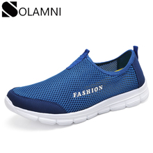 Summer Breathable Men Shoes Mesh Lightweight Sneakers Male Fashion Flats