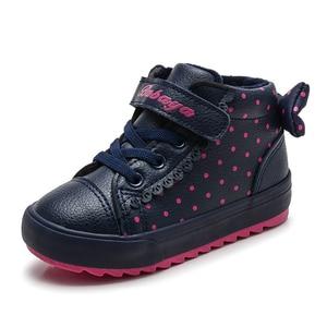 Детские ботинки для девочек, теплые плюшевые ботинки из искусственной кожи для маленьких девочек 2020, Модные Повседневные детские кроссовки...