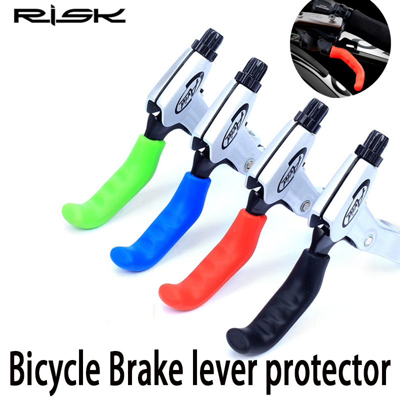 1Pair Bike Bicycle Cycling MTB BMX Brke Cover Lever Grips Protector Blue