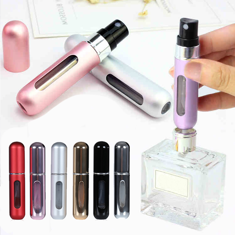 Fashion Mini 5ml Needs Drop Refillable Perfume Bottle Women Men Canned Air Spray Bottom Pump Atomization Travel Accessories