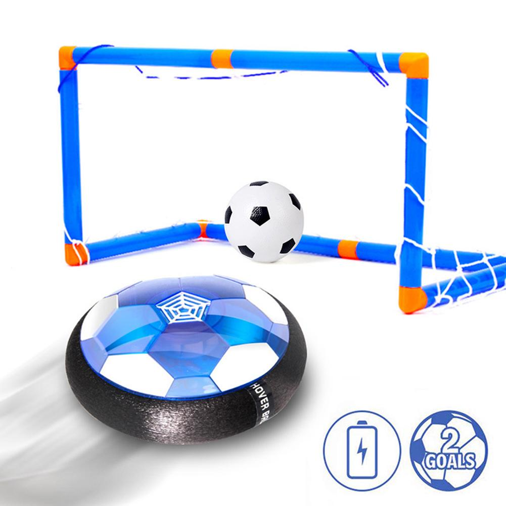 18cm Air Power Soccer Kids Toys Hover Soccer Ball Set Rechargeable With LED Light Goal For Indoor Playing Include Gate