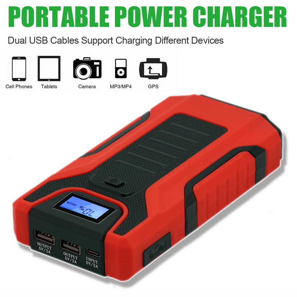 GKFLY High Power 16000mAh 1200A urządzenie do uruchamiania awaryjnego samochodu 12V urządzenie zapłonowe Power Bank ładowarka samochodowa do wzmacniacz do akumulatora samochodowego Buster LED