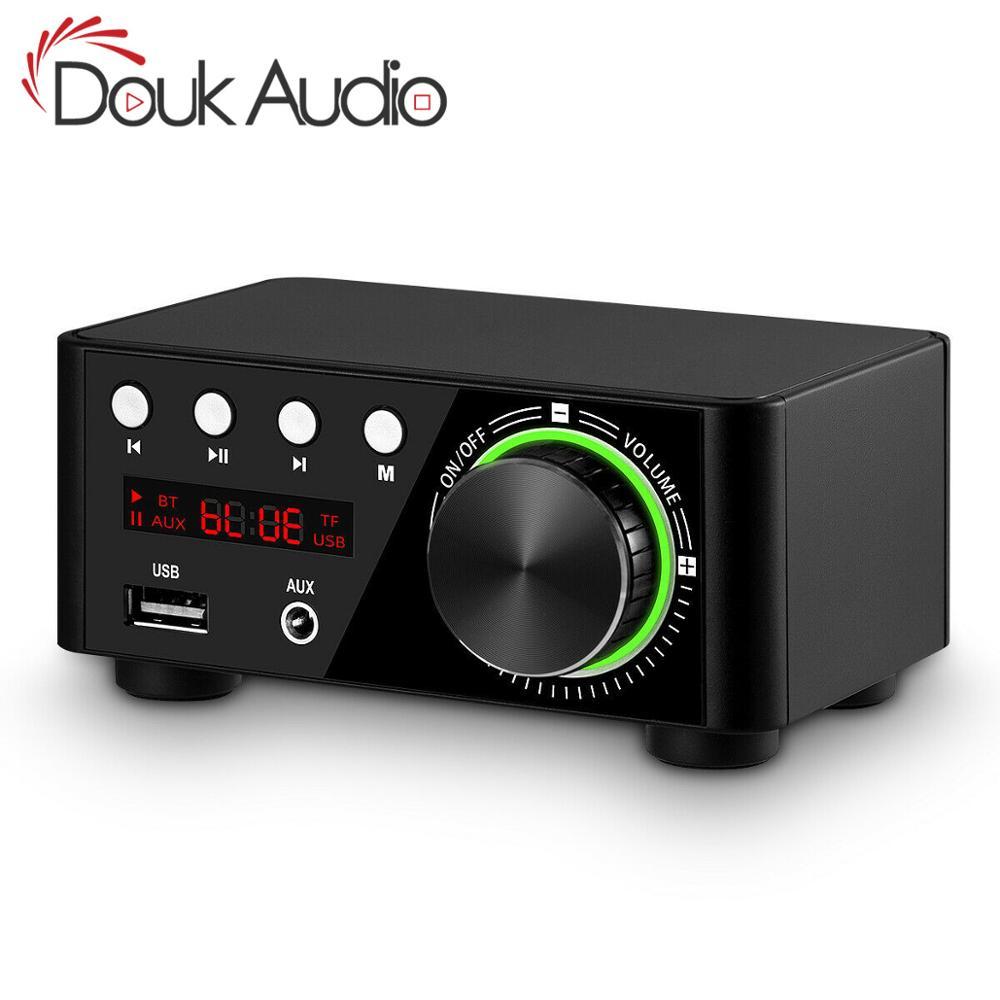 Douk áudio mini tpa3116 amplificador de potência bluetooth 5.0 receptor estéreo casa áudio do carro amp usb u-disk music player