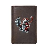 Persönlichkeit Echtem Leder Männer Brieftasche Drei Falten Hohe Qualität Tiger Und Paw Design Visitenkarte Halter Männlichen Geldbörsen
