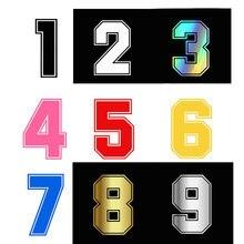 Высота 15 см автомобиля Стикеры номер 0-9 автомобильные наклейки отражающие Стикеры s светоотражающий Авто наклейки забавные винил JDM на накл...