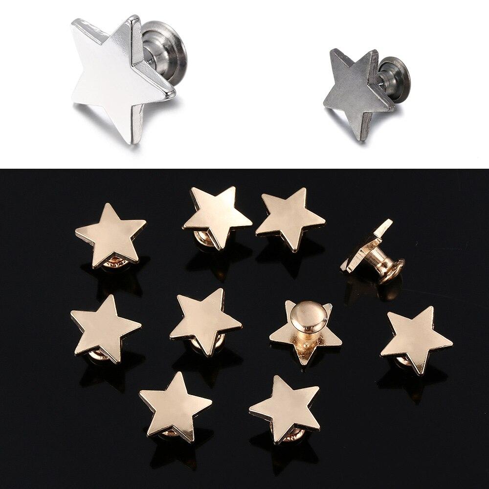 10 o 20 12mm oro metálico de plástico de plata en forma de estrella Botones en paquetes de 5 etc