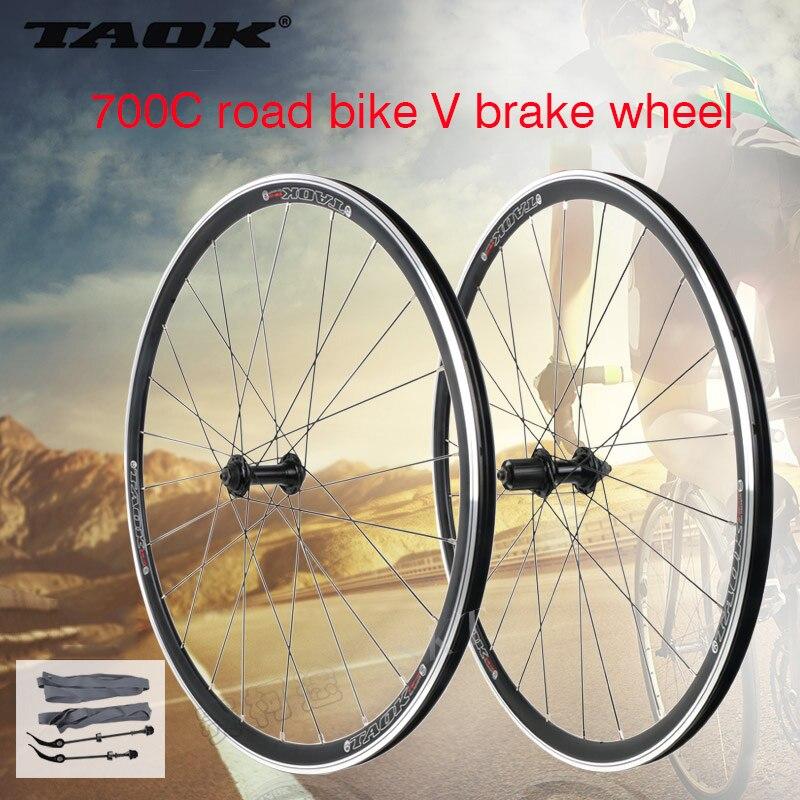 TAOK 700C Legierung Räder Cosmic Road Fahrrad Bike Rad V Bremse Aluminium Laufradsatz Fahrrad Räder Felgen