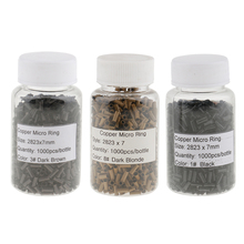 1000 Pieces Hair Extentions Micro Rings Links Beads, 7mm Cop