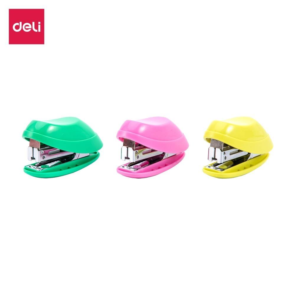 DELI E0220F  Mini Stapler No.10  Student Cute Staplers Smooth Stapling Office School Accessories