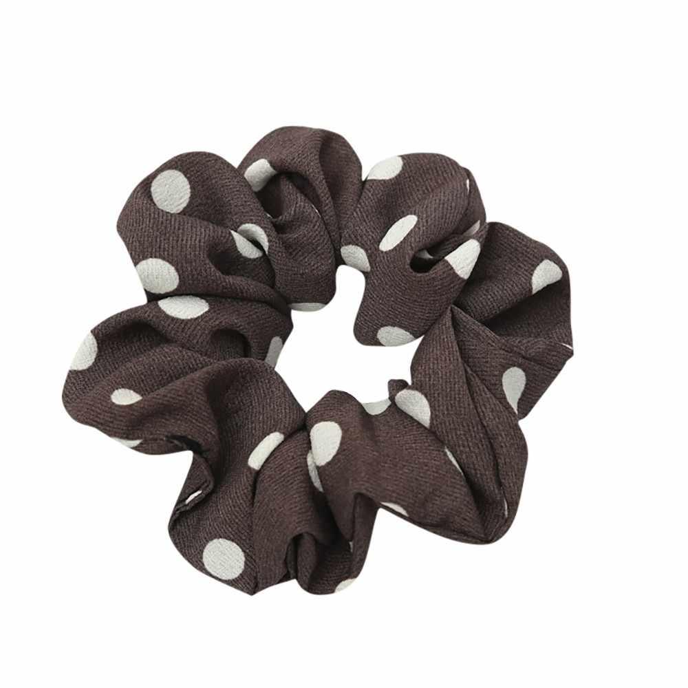 Kobiety elastyczna opaska do włosów liny pierścień krawat Scrunchie kucyk Holder kobiet opaska do włosów z pałąkiem na głowę tkaniny na co dzień spinki do włosów