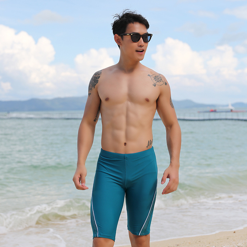Swimming Trunks Men Short Knee-Length Slim Fit COUPLE'S Men's Swimming Trunks Swimming Equipment 2019 New Products