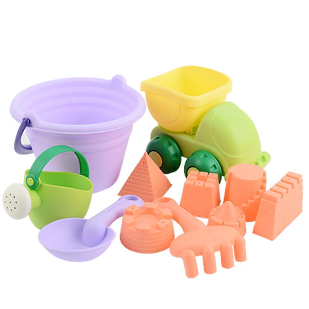 11Pcs/Set Kids Play Sand Toy Children Summer Outdoor Beach Sand Dredging Play Water Bath Fun Toys