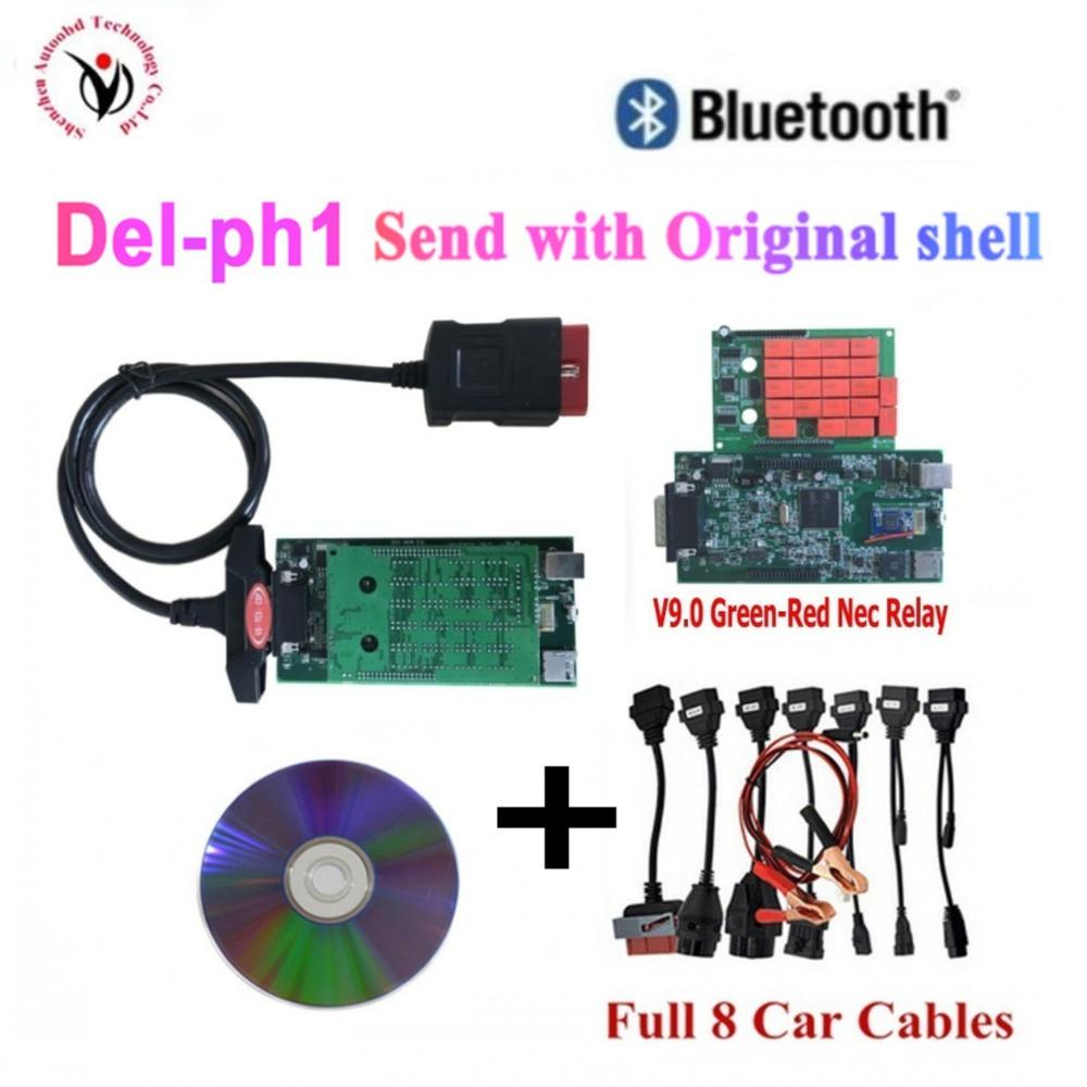 201503/2016R0 Adapter For Pro Cars Diagnostic Interface Tool for delphis <font><b>vd</b></font> <font><b>ds150e</b></font> cdp + Full set 8 Car Cables For car image