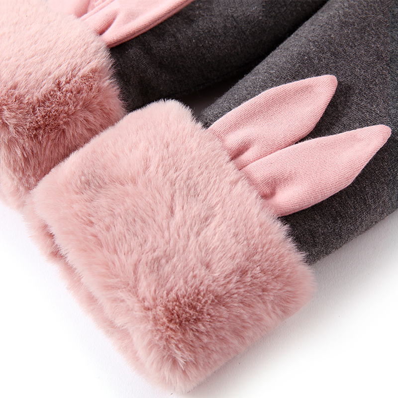 Girl's Pure Cotton Padded Leggings Winter Cartoon Cotton Pants Outwear Baby Warm Pants Plush Thickened PANTS NEW Child Trousers 5