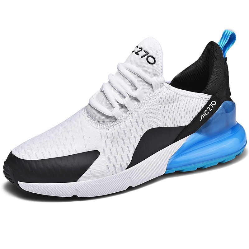 2019 yeni marka sıcak koşu ayakkabıları erkekler için hava yastığı örgü nefes fitness giysileri dayanıklı eğitmen spor ayakkabılar erkek Sneakers
