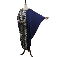 African Dresses For Women Muslim Robe Womens Dress 2019 Autumn Black Long Leopard Boubou Africain