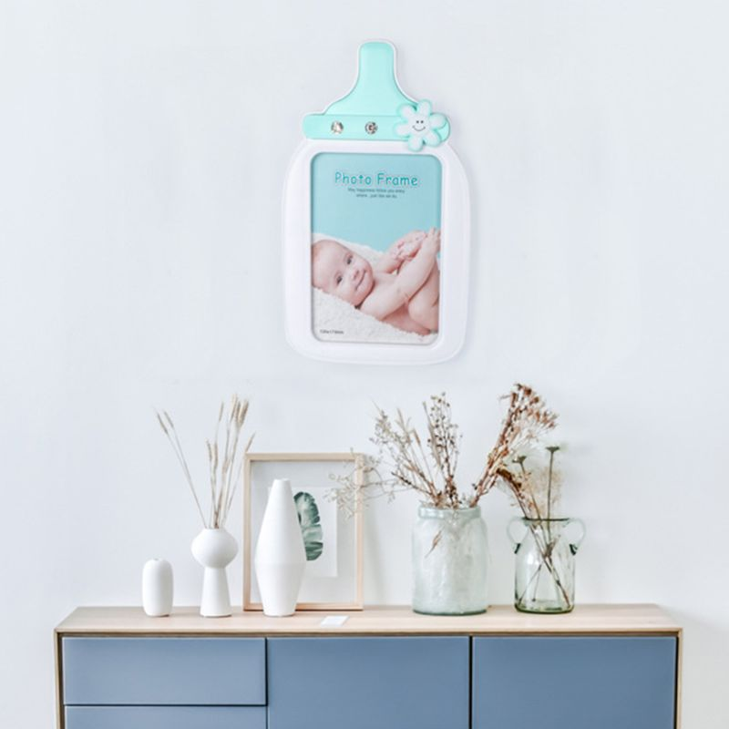 Creative Baby Cartoon Bottle Shape Photo Frame Kids Birthday Gift Picture Holder Desktop Ornaments Home Decoration