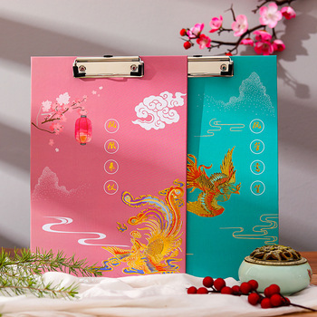New Arrive Retro A4 Bronzing Board Clip Student Writing Pad Board Clip Exam Paper Clip Folder Office Student Supplies Stationery 2020 flower fog flying crane retro series folder board a4 office writing pad convenient clip board school stationery