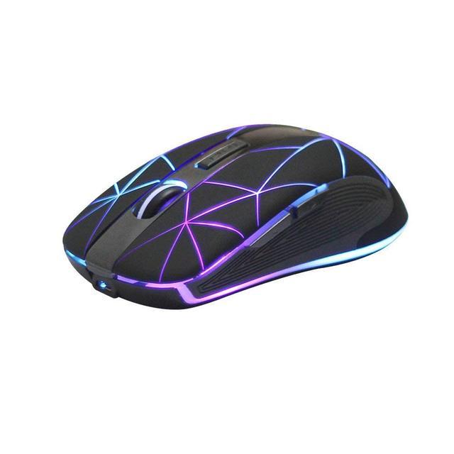 Беспроводная мышь Rii RM200 2,4 ГГц, 5 кнопок, перезаряжаемая Мобильная оптическая мышь с USB нано приемником, 3 настраиваемых уровня DPI для ПК